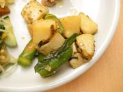 有機長芋と有機おくらのワサビ醤油和え