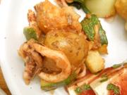 スルメイカと卵と有機ズッキーニのエスニック焼き
