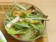 有機長芋と有機水菜と油揚げの梅ドレッシングサラダ