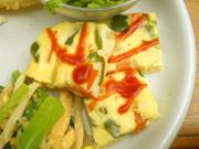 彩り有機野菜のスパニッシュオムレツ