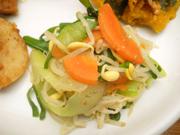 豆もやしと有機青菜の胡麻ナムル
