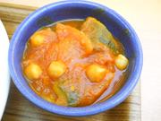 有機カボチャと有機ズッキーニとひよこ豆のラタトゥイユ