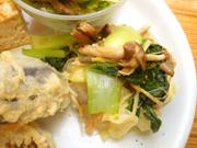 有機青菜と豆もやしの香味和え