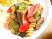 有機夏野菜のローストとベジタブルパスタのハーブマリネ