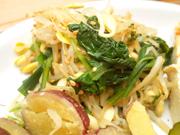 有機青菜と豆もやしのピリ辛ナムル