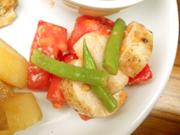 有機トマトと有機長芋と有機いんげんのバルサミコマリネ