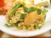 豆もやしと有機青菜のスタミナナムル