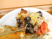 自家製ツナと有機茄子と有機トマトのチーズハーブ焼き