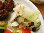 有機揚げ茄子と有機長芋と有機おくらのハーブマリネ