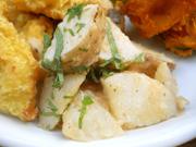 有機長芋と有機小カブのピリ辛梅味噌和え