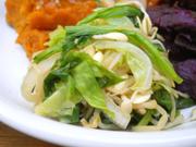 有機チンゲン菜と有機キャベツの中華和ええ