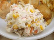 有機赤玉ネギとコーンのポテトサラダ