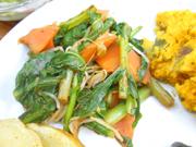 有機青菜と豆もやしの豆味噌ナムル