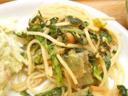高菜と納豆のスパゲッティ