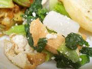 有機青菜と油揚げの柚子胡椒和え