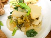 有機小松菜と有機大根の刻み高菜和え