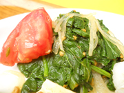 有機小松菜と春雨と有機トマトの中華和え