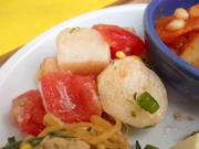 真っ赤な有機トマトとみちのく有機長芋