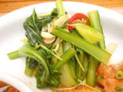 有機青菜と有機胡瓜の中華和え
