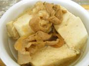 ピリ辛山椒のきいた肉豆腐