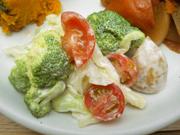 マカロニと彩り有機野菜のマヨネーズ和え