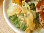 豆もやしと有機チンゲン菜のスチーム坦々ソースがけ