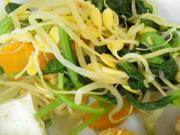 有機青菜と豆もやしのぴり辛ナムル