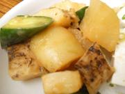有機キュウリとみちのく有機長芋のわさび醤油和え
