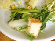 有機青菜と厚揚げのおひたし