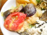 有機揚げ茄子と有機キャベツのバルサミコマリネ