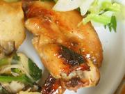 鶏手羽の生姜照り焼き