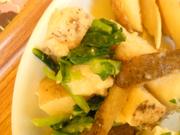 有機長芋と有機小松菜の生姜味噌和え