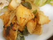 有機ジャガ芋と有機ピーマンのみそバター焼き