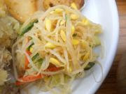 有機青菜と豆もやしのナムル