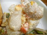 有機ジャガ芋と有機いんげんのマヨネーズ和え