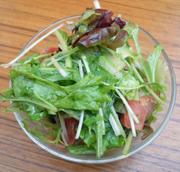 トマトとリーフのハーブドレッシングサラダ