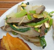青菜とごぼうのごま味噌和え