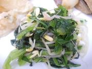 豆もやしとチンゲン菜のごまナムル