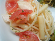フレッシュトマトとクリームチーズのサラダスパゲッティー