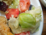 キャベツとトマトのアーリオオーリオ