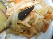 蒸し鶏とキャベツの味噌炒め