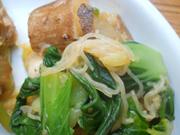 長芋とチンゲン菜の薬膳ソース和え