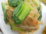 チンゲン菜と春雨の中華和え
