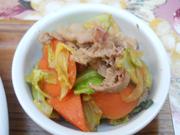 和歌山県産ポークとキャベツの味噌バター炒め