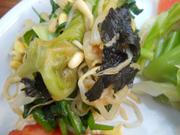 ニラと豆もやしの板海苔ナムル