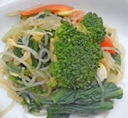 チンゲン菜と豆もやしの中華和え
